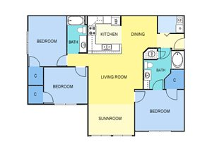 Three Bedroom Apartment Homes