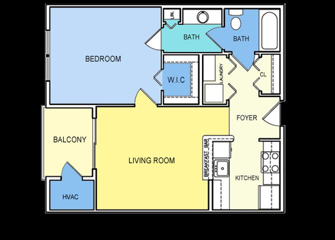 1 Bed Junior Floor Plan 1