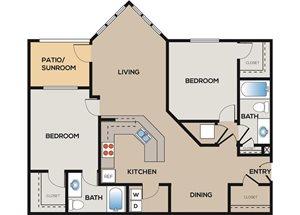 2 Bedroom 2 Bathroom B