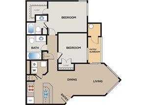 2 Bedroom 2 Bathroom A
