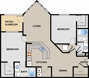 2 Bedroom 2 Bathroom B