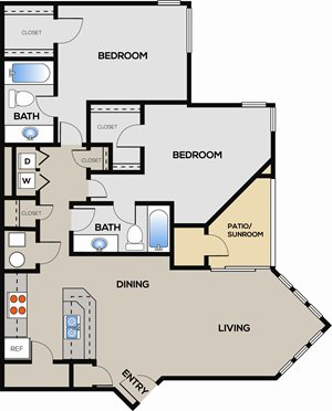 2 Bedroom 2 Bathroom C