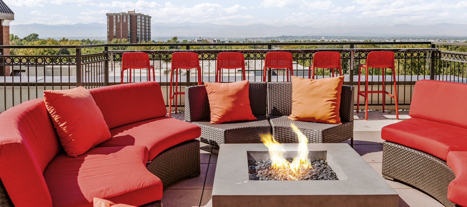 Kent Place Residences Rooftop Firepit and Seating