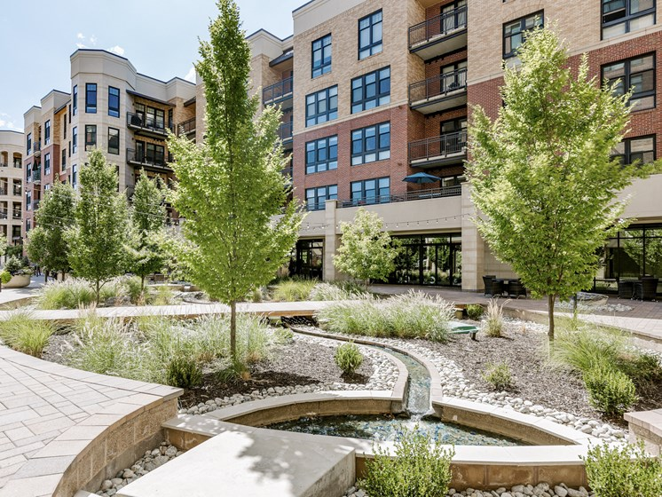 Kent Place Residences Apartments Outdoor Planters and Walkways