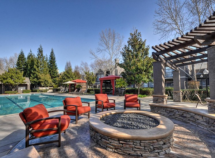 Pool Cabana & Outdoor Entertainment Bar at Larkspur Woods Apartment Homes, 2900 Weald Way, Sacramento, CA