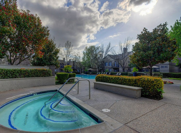 Year-Round Hot Tub at Larkspur Woods Apartment Homes, Sacramento, California