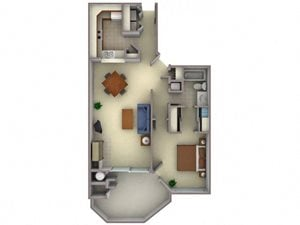 Floorplan at Larkspur Woods Apartment Homes, Sacramento, California