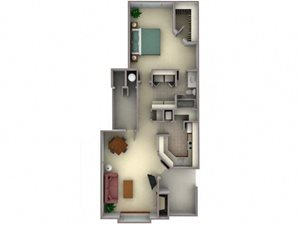 Floorplan at Larkspur Woods Apartment Homes, CA, 95833