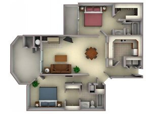 Floorplan at Larkspur Woods Apartment Homes, 2900 Weald Way, Sacramento, CA
