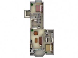 Floorplan at Larkspur Woods Apartment Homes, 2900 Weald Way