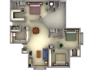 Floorplan at Larkspur Woods Apartment Homes, Sacramento, 95833