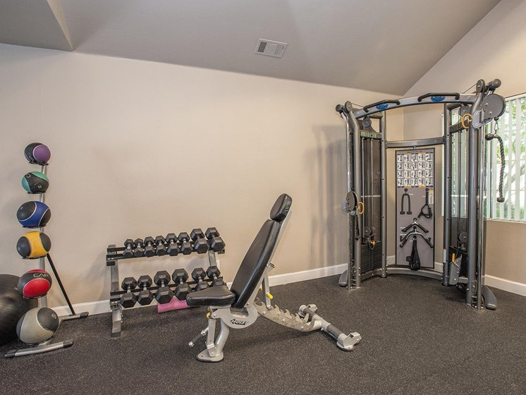 24-Hour Fitness Center at Larkspur Woods Apartment Homes, Sacramento, CA