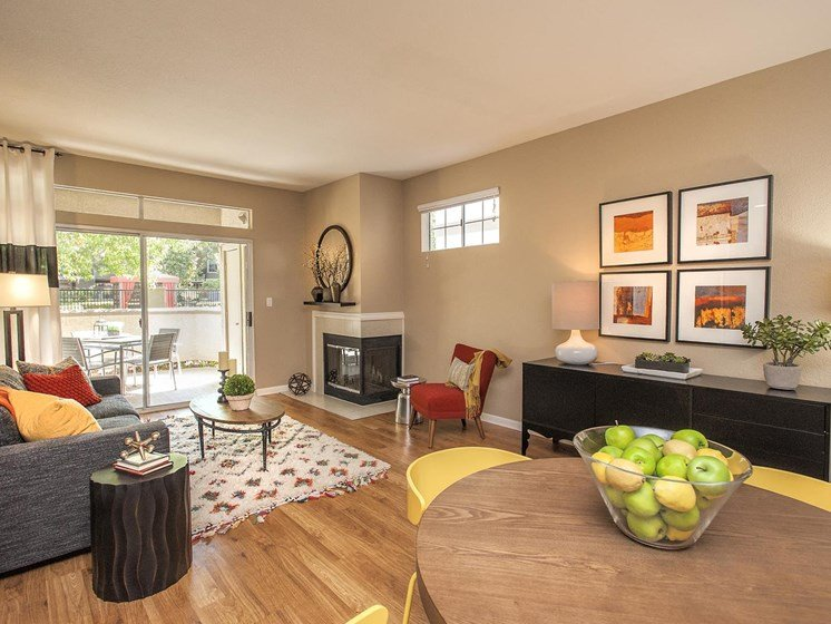 Wood Burning Fireplaces at Larkspur Woods Apartment Homes, Sacramento, CA