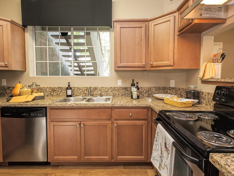 New Countertops and Cabinets at Larkspur Woods Apartment Homes, Sacramento, California
