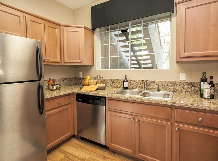 Spacious Kitchen with Pantry Cabinet at Larkspur Woods Apartment Homes, CA, 95833