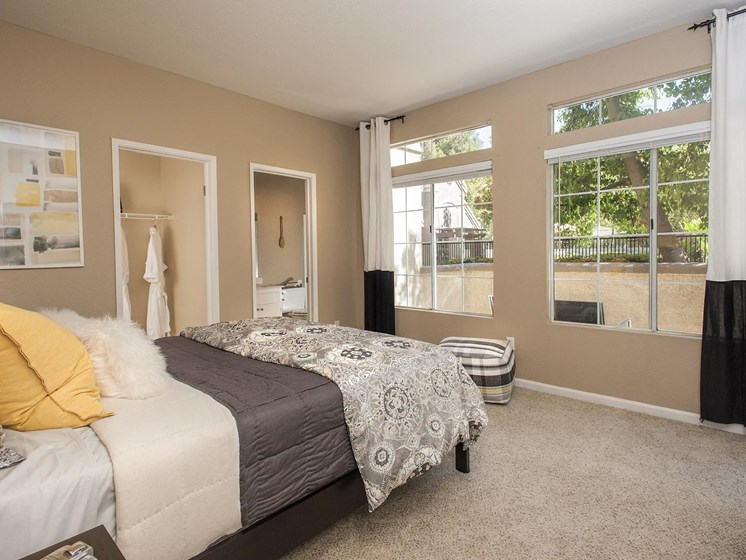 Live in cozy bedrooms at Larkspur Woods Apartment Homes, 2900 Weald Way, Sacramento, CA