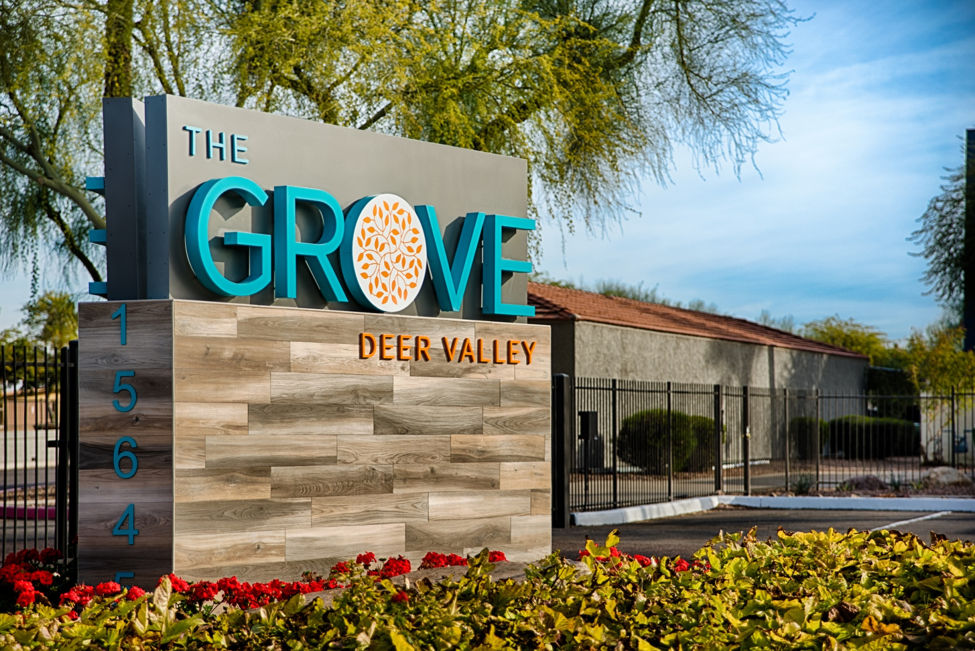 Gated Entrance at The Grove Deer Valley Apartments, AZ, 85053
