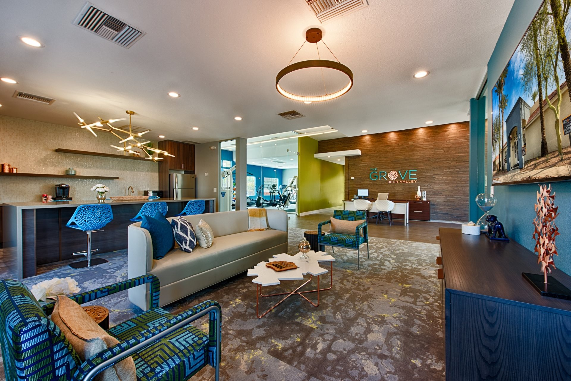 Newly Renovated Clubhouse at The Grove Deer Valley Apartments, Phoenix, 85053