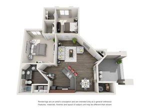 Floorplan at The Turn Apartments, AZ, 85023
