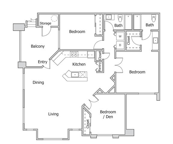 Floorplan at The Turn Apartments, 14602 N 19th Ave