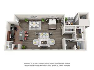 Floorplan at The Turn Apartments, Phoenix, AZ