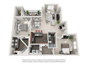 Floorplan at The Turn Apartments, 14602 N 19th Ave, Phoenix, AZ