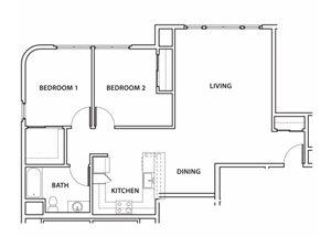Plan 4 Floorplan at Argyle Apartments
