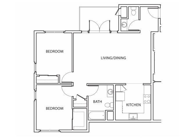 Plan 5 Floorplan at Argyle Apartments