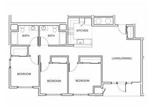 Plan 6 Floorplan at Argyle Apartments