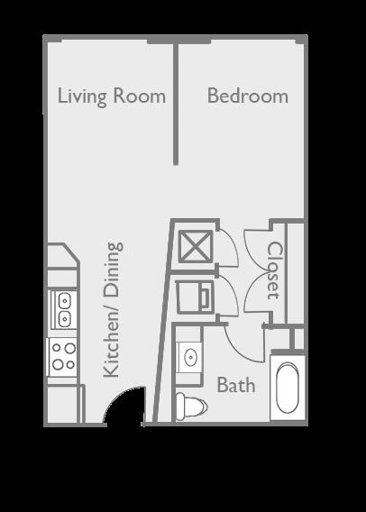Studio S-1F Floor Plan 2