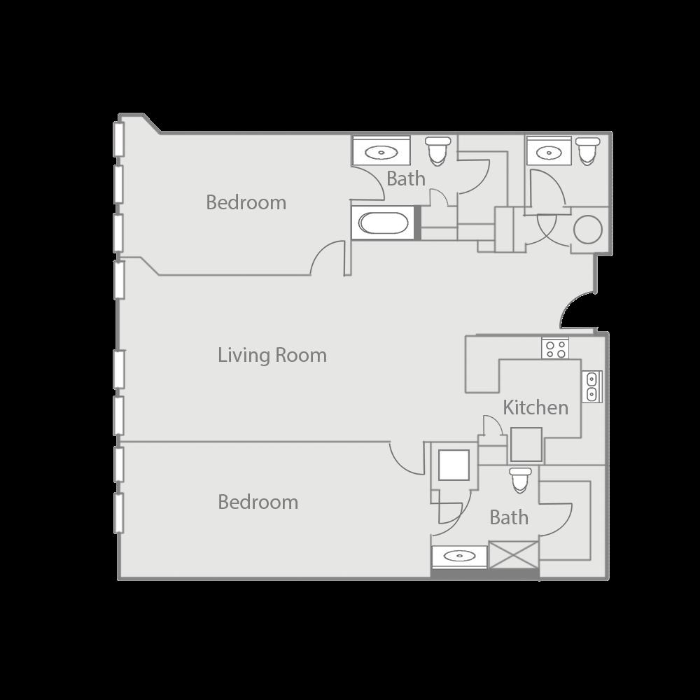 B5BE Floor Plan 45