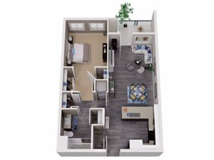 One Bedroom Apartments for rent in Martinez Apartments | Cascara Canyon Apartments