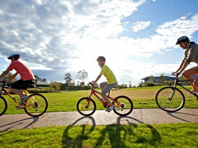 bike riding on a path  l Davinci Apartments