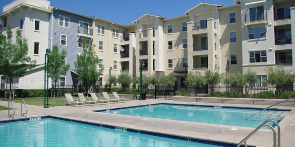 Two pools side by side l Apartments in Dublin CA l Dublin Ranch Senior Apartments