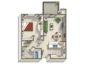 One Bedroom Apartments in Dublin CA l Dublin Ranch Senior Apartments