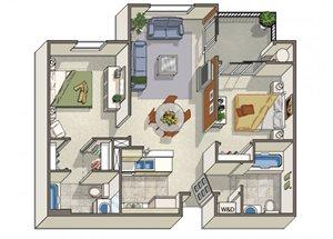 Two Bedroom Apartments in Dublin CA l Dublin Ranch Senior Apartments