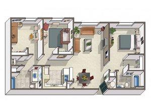 Three Bedroom Apartments in Dublin CA l Oak Grove Apartments