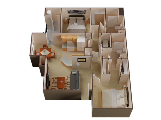 Two Bedroom Apartments For Rent in Roseville l Pinnacle at Galleria