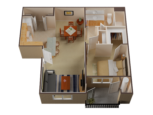 One Bedroom Apartments For Rent in Roseville l Pinnacle at Galleria