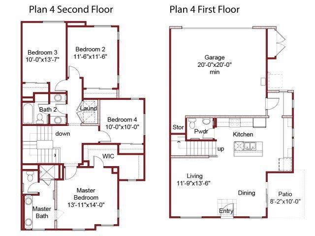 the 4BD, 2.5BTH floor plan.