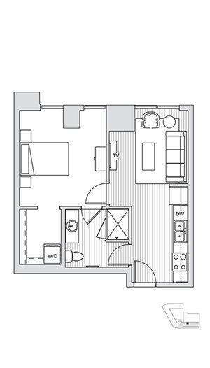 1 Bedroom T2