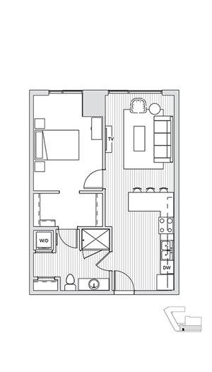 1 Bedroom T6