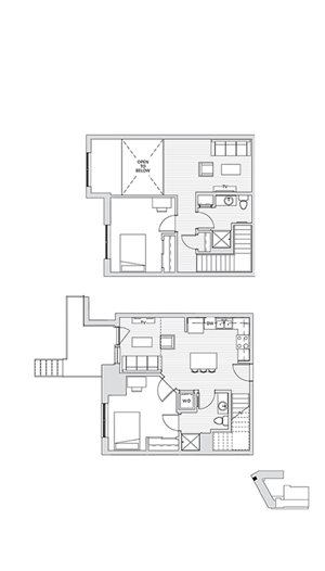 2 Bedroom Townhouse 1