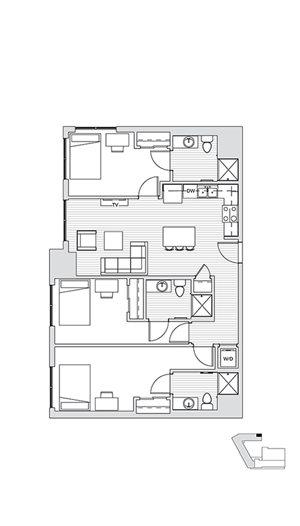 3 Bedroom L2