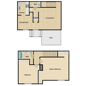 TWO BEDROOM TOWN HOUSE