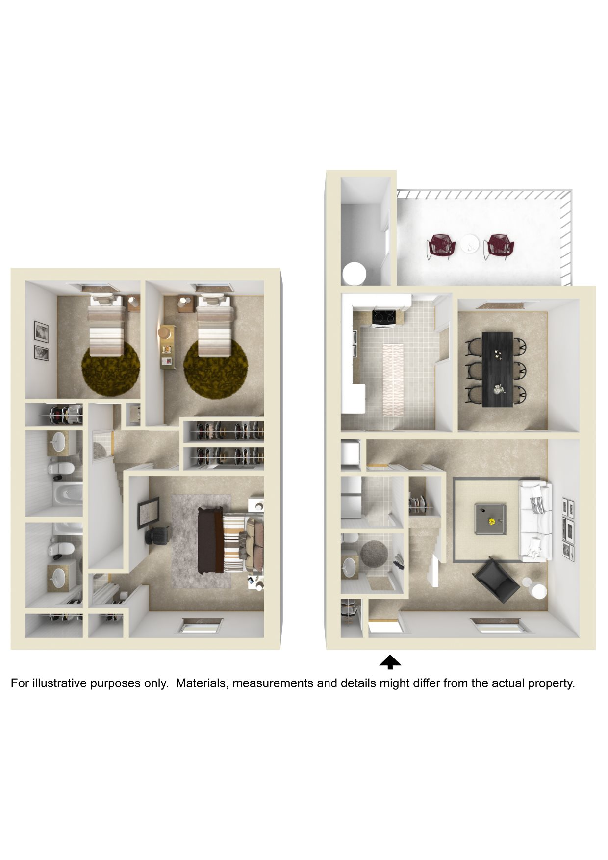 THREE BEDROOM TOWNHOME Floor Plan 7
