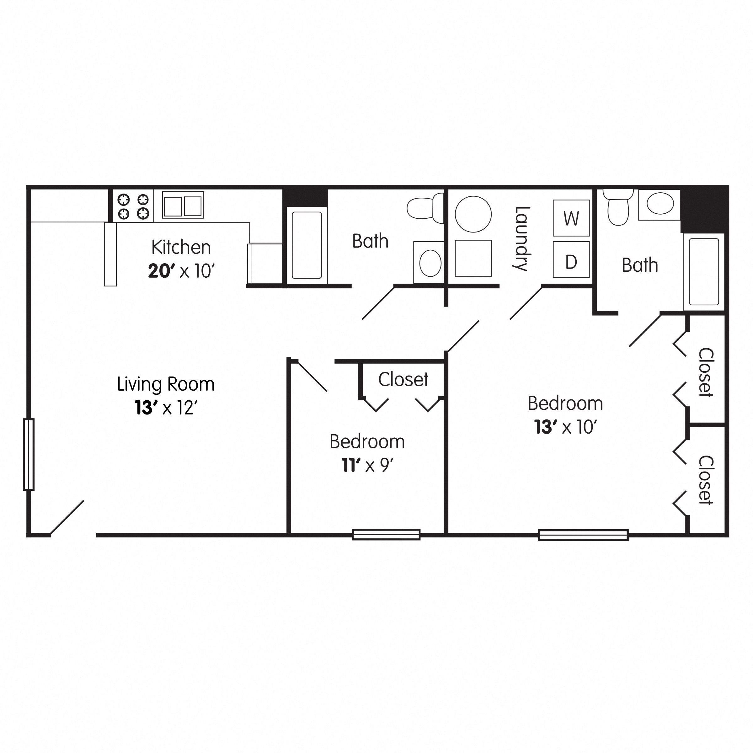 Two Bedroom Apt: Bethabara Pointe EBrochure