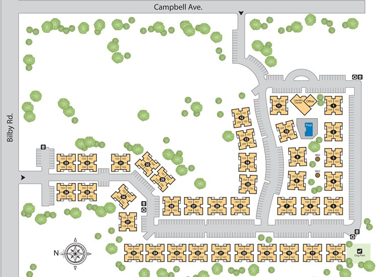 Site Map at Paseo Del Sol Townhomes, AZ, 85706