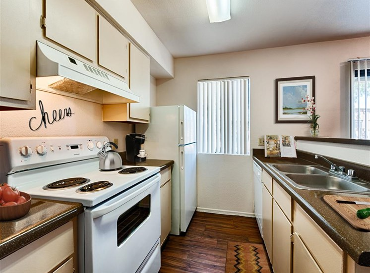 Spacious Kitchen with Pantry Cabinet at Paseo Del Sol Townhomes, Tucson, AZ