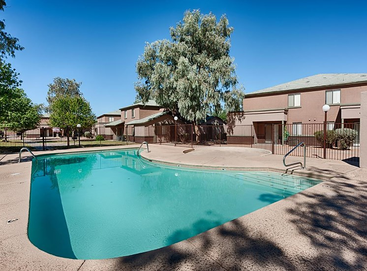 Sparkling Swimming Pool at Paseo Del Sol Townhomes, Tucson, AZ